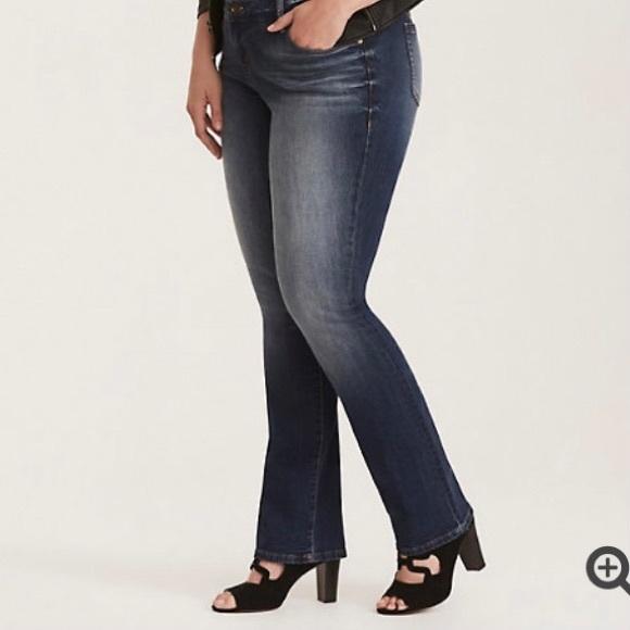 TORRID Barely Boot Dark Wash Jeans Size 22R